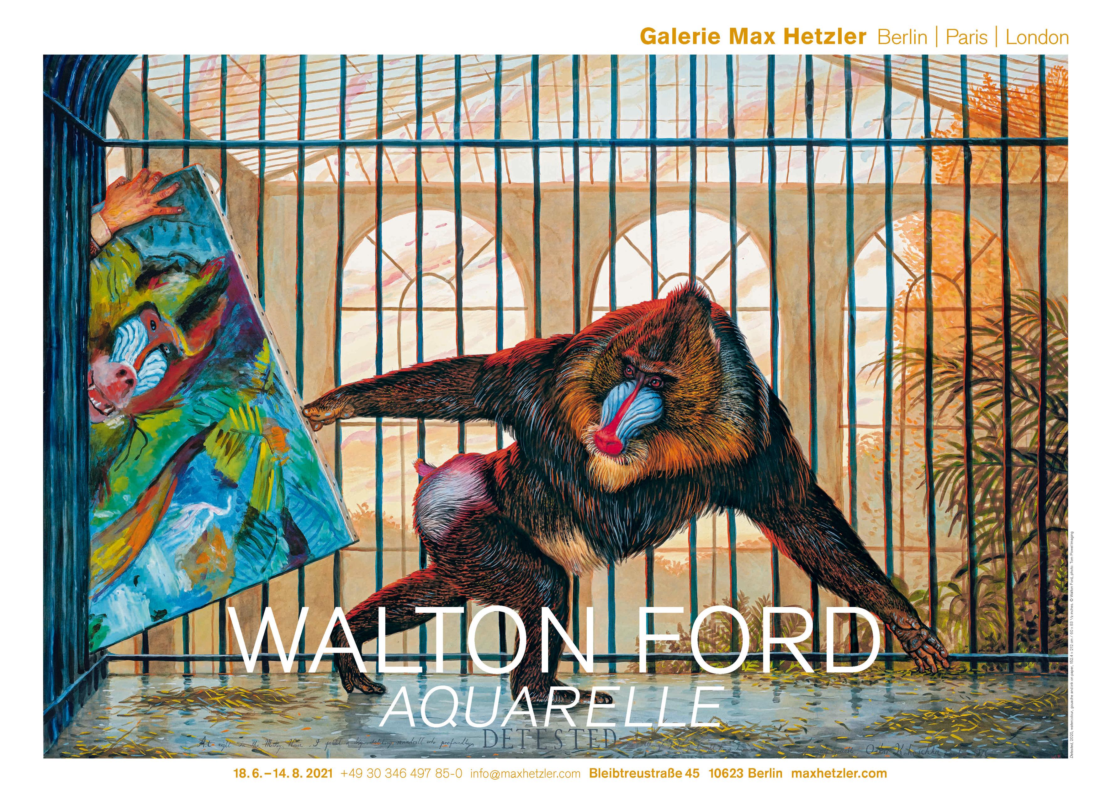 Walton Ford, Aquarelle - Galerie Max Hetzler