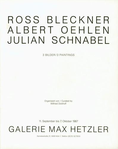 3 Paintings - Galerie Max Hetzler