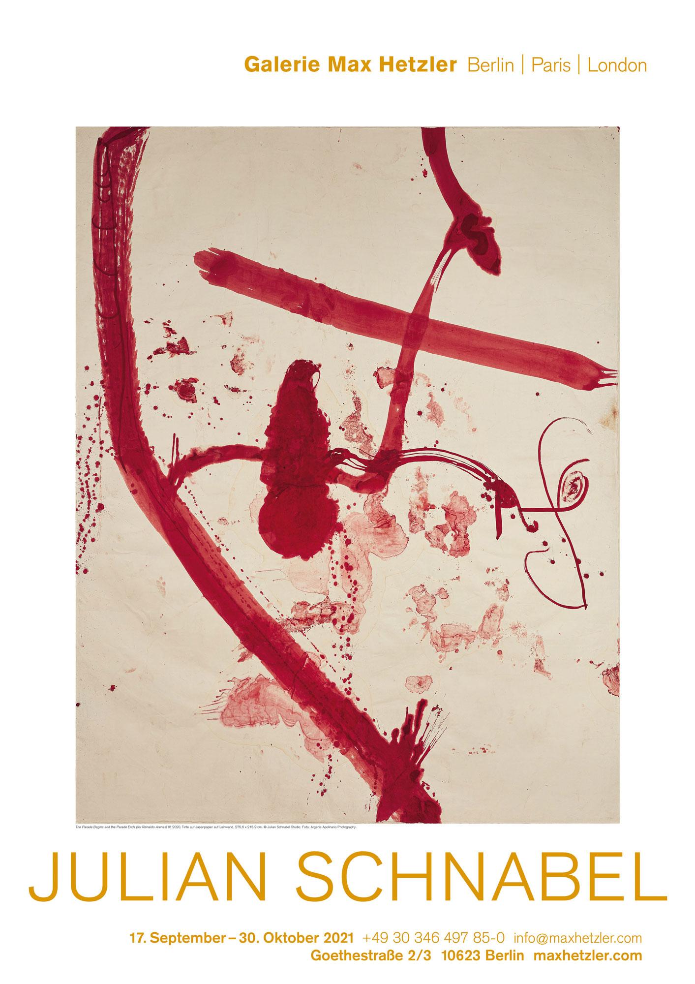 Julian Schnabel - Galerie Max Hetzler