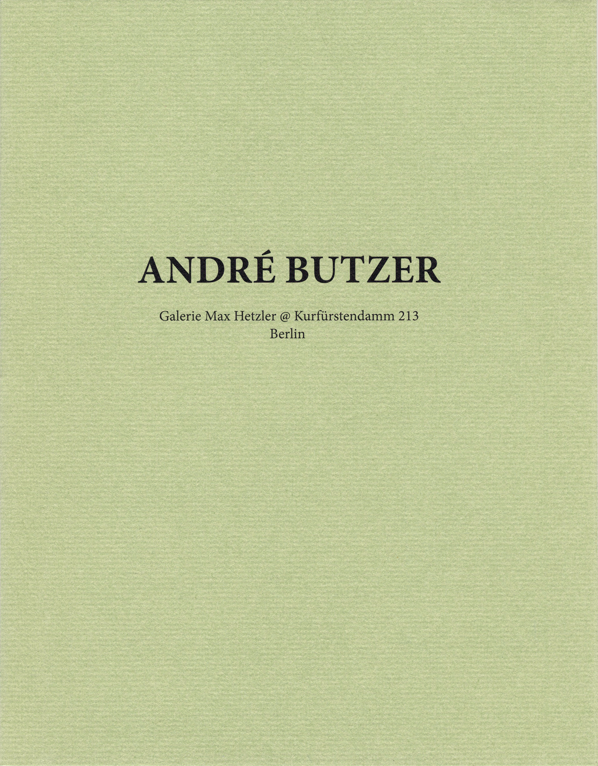 Galerie Max Hetzler @ Kurfürstendamm 213, Berlin - Galerie Max Hetzler