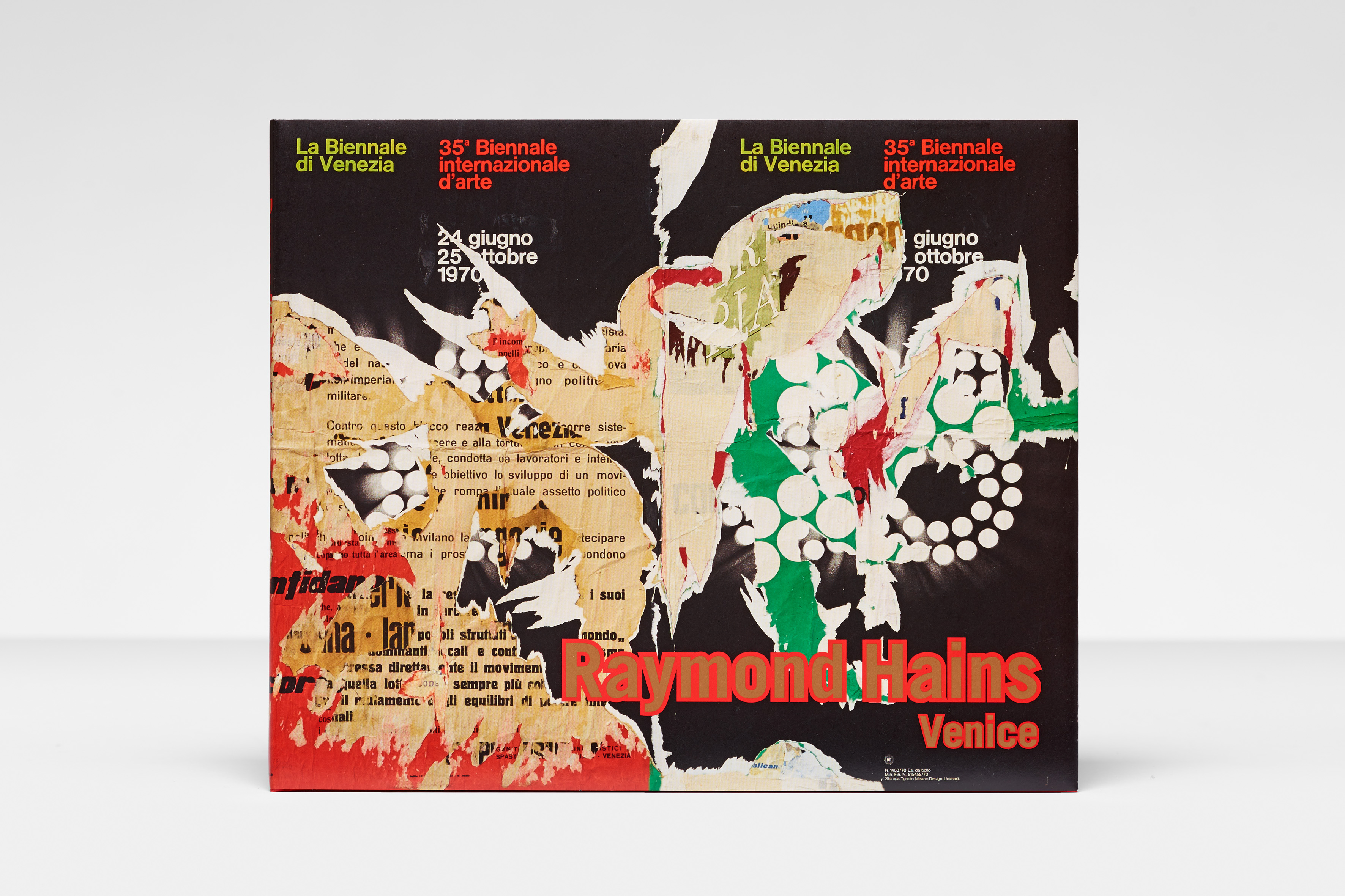 Raymond Hains: Venice - Galerie Max Hetzler