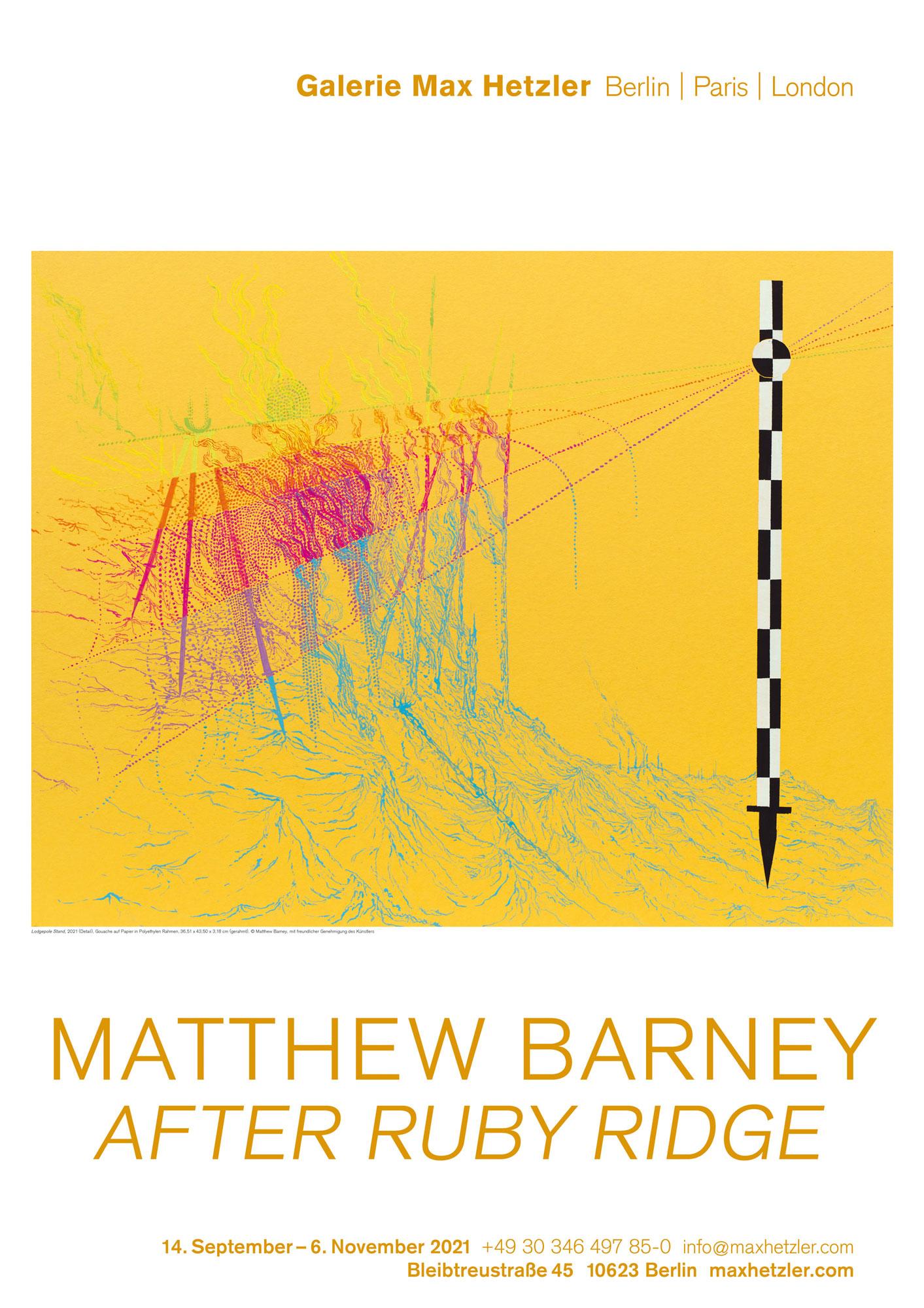 Matthew Barney, After Ruby Ridge - Galerie Max Hetzler