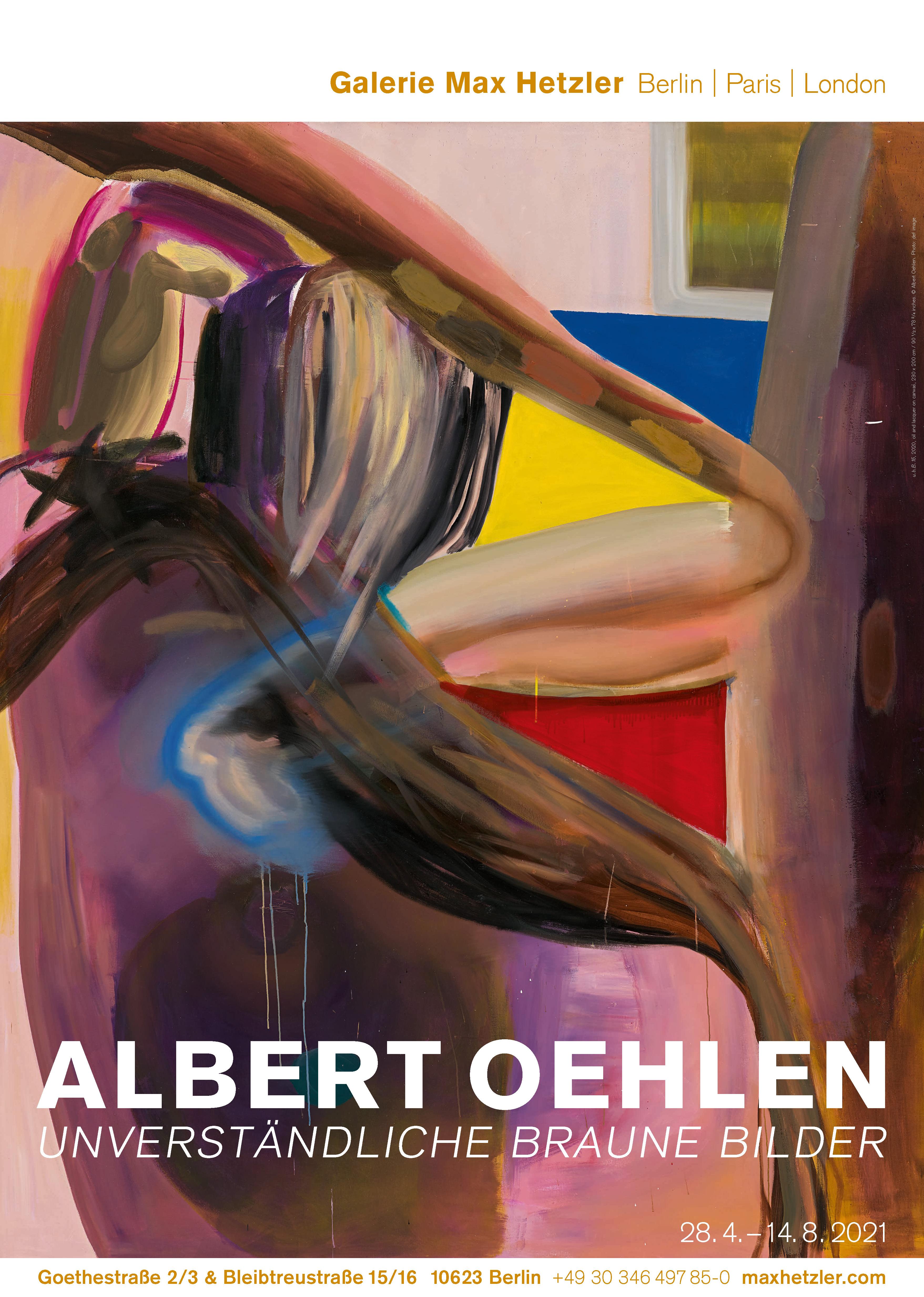 Albert Oehlen, unverständliche braune Bilder - Galerie Max Hetzler